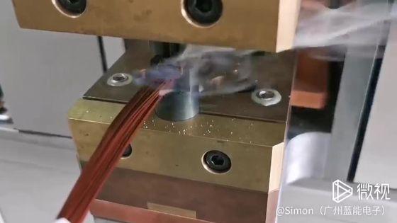增程式电动车电机定子引线焊接机,不用刮漆皮