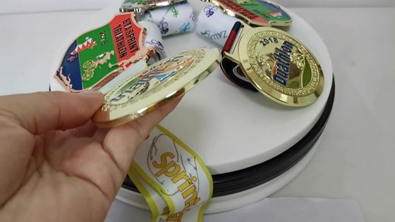 Oneway Fashion Custom Design 3D Metal Award Medal Duathlon 2018 World Championships Gold Medal