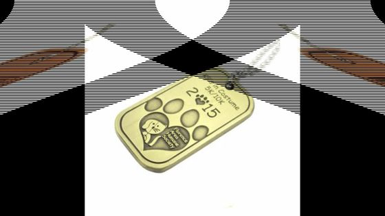Wholesale Engraved Custom 3D Embossed US Military and Sports Logo Brass Metal Dog Tags